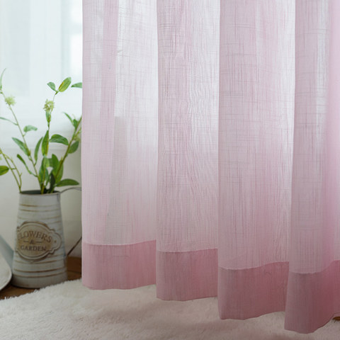 Sheer Curtain A touch of Sunshine Pink Voile Curtain 1