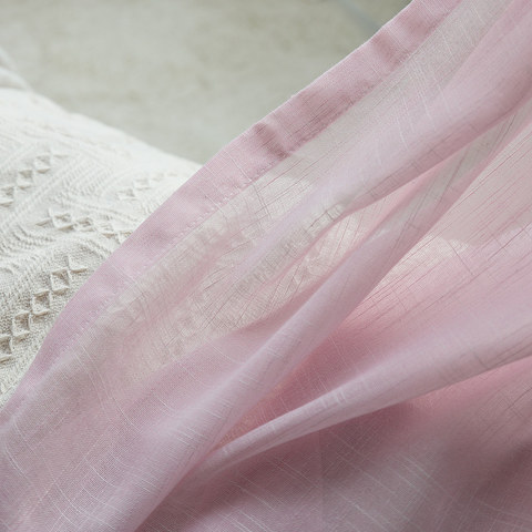 Sheer Curtain A touch of Sunshine Pink Voile Curtain 3