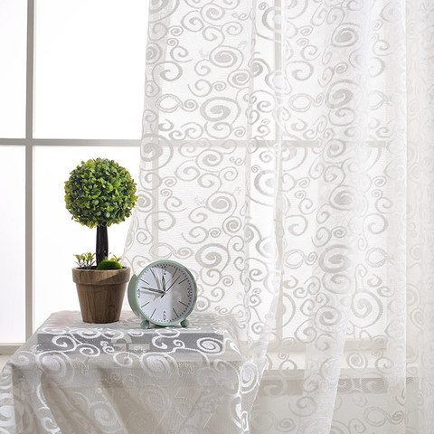 Net Curtain Starry Night White Lace Voile Curtain 4