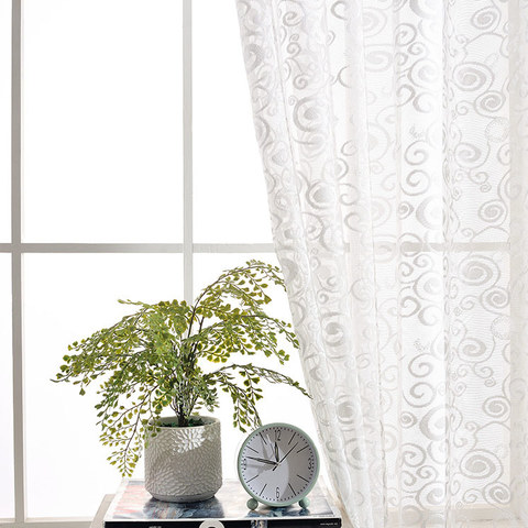 Net Curtain Starry Night White Lace Voile Curtain 3
