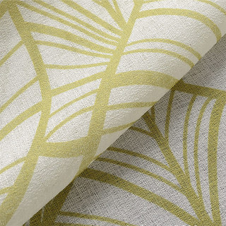 Semi Sheer Curtain Lush Palm Tree Paradise Green Voile Curtain 3