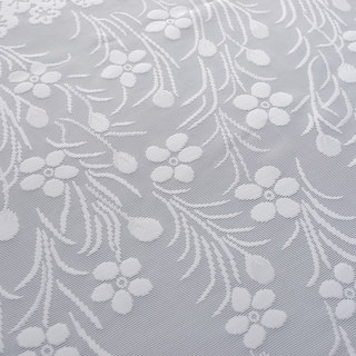 Net Curtain Spring Time Daisy Jacquard White Voile Curtains 6