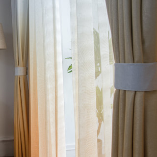 The Perfect Blend Ombre Yellow Sheer Curtain 10