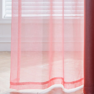 The Perfect Blend Ombre Red Orange Sheer Voile Curtain 5