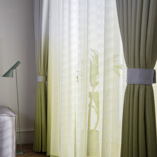 The Perfect Blend Ombre Lime Green sheer Curtain 1