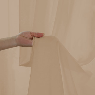 Sheer Curtain Soft Breeze Mocha Voile Curtain 3