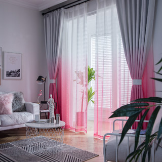 The Perfect Blend Ombre Pink Sheer Curtain 5