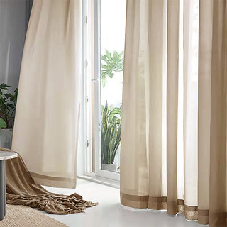 Sheer Curtain Soft Breeze Mocha Voile Curtain 1