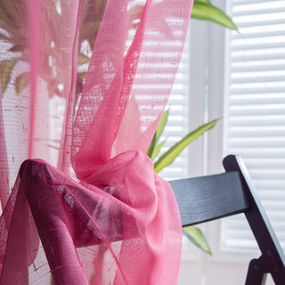 The Perfect Blend Ombre Pink Sheer Curtain 3