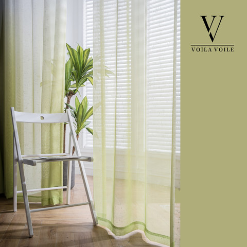 The Perfect Blend Ombre Lime Green sheer Curtain 9