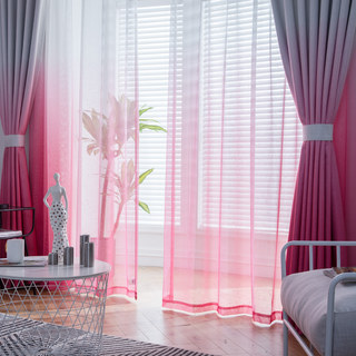 The Perfect Blend Ombre Pink Sheer Curtain 6