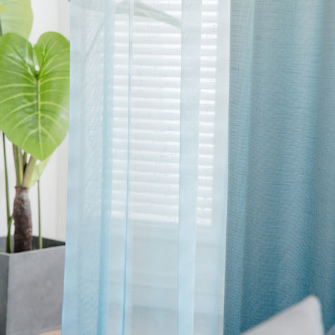 The Perfect Blend Ombre Blue sheer Curtain 2