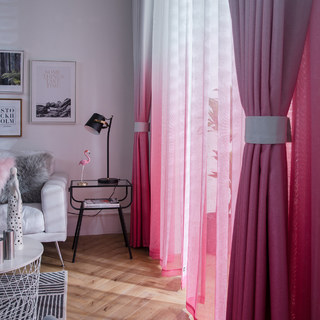 The Perfect Blend Ombre Pink Sheer Curtain 4