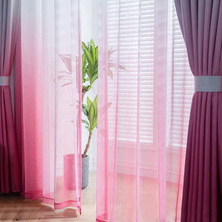 The Perfect Blend Ombre Pink Sheer Curtain 1