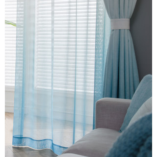 The Perfect Blend Ombre Blue sheer Curtain 5