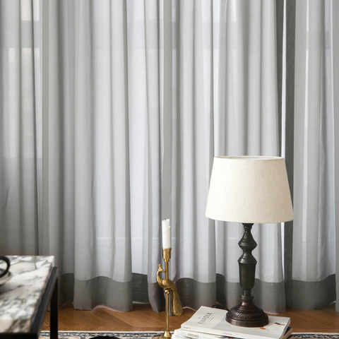 Soft Breeze Grey Voile Curtain 4