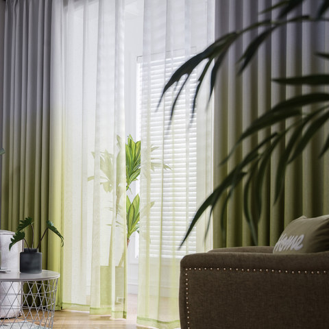 The Perfect Blend Ombre Lime Green sheer Curtain 8