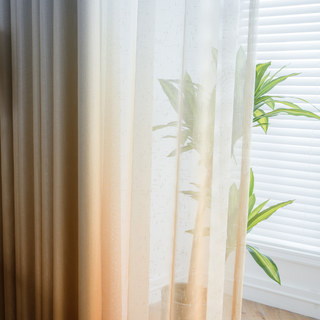 The Perfect Blend Ombre Yellow Sheer Curtain 7