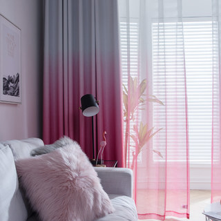 The Perfect Blend Ombre Pink Sheer Curtain 7