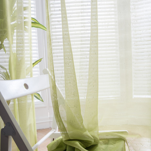 The Perfect Blend Ombre Lime Green Sheer Voile Curtain 3