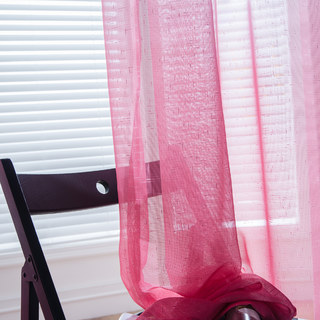 The Perfect Blend Ombre Pink Sheer Curtain 2