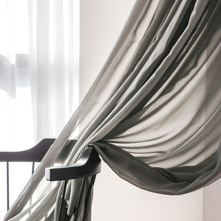 Soft Breeze Grey Voile Curtain 3