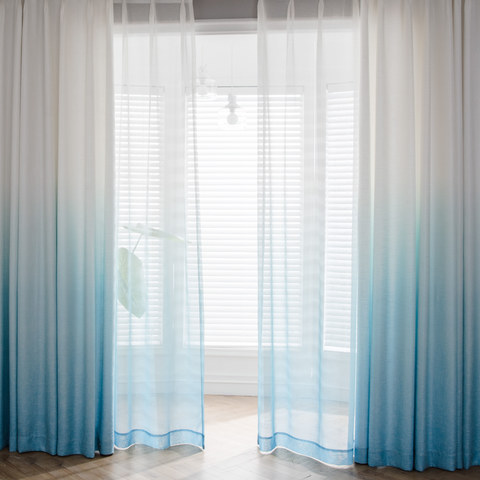 The Perfect Blend Ombre Blue sheer Curtain 4