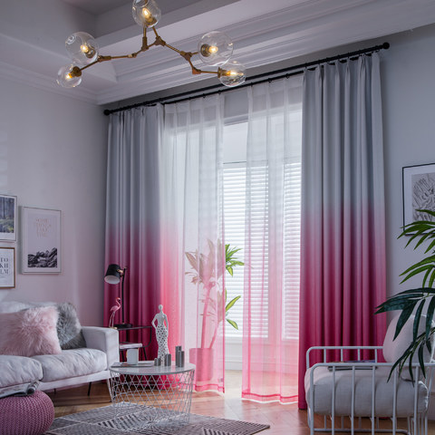 The Perfect Blend Ombre Pink Sheer Curtain 8