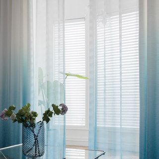 The Perfect Blend Ombre Blue sheer Curtain 1