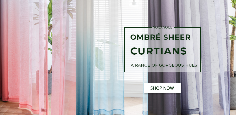 Unique Ombre Sheer Curtains