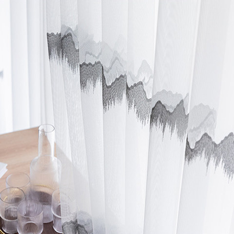Hill Top Embroidered Sheer Voile Curtain 7