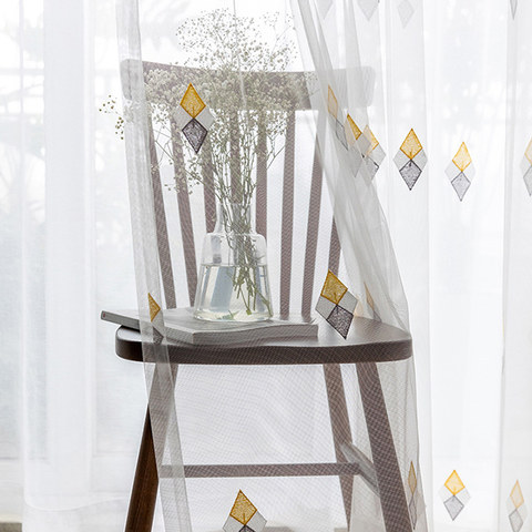 Tri-diamond Windsor sheer voile curtain 4