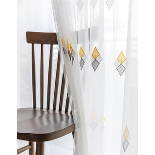 Tri-diamond Windsor sheer voile curtain 3