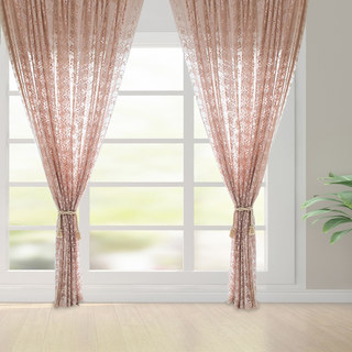 Lace Curtain Posey Pastel Pink Net Curtains 9