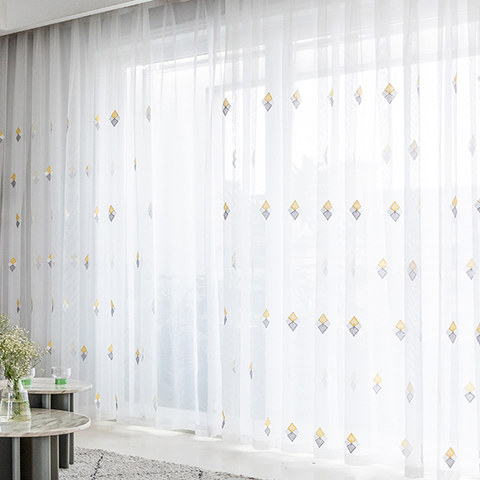 Tri-diamond Windsor sheer voile curtain 6