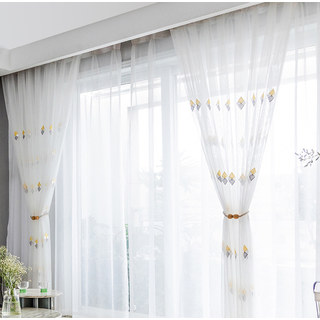 Tri-diamond Windsor sheer voile curtain 7