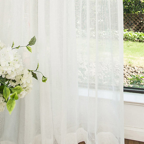 Sheer Curtain Notting Hill White Luxury Voile Curtain 4