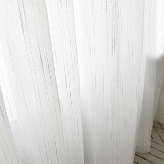 Sheer Curtain The New Neutral White Voile Curtains with Exquisite Striped Texture 5