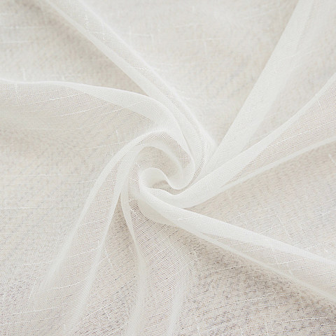Sheer Curtain Notting Hill White Luxury Voile Curtain 8