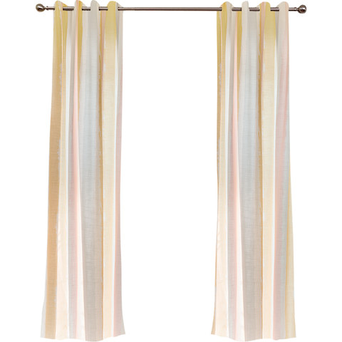 Vibrant Watercolour Pink Striped Curtain 5