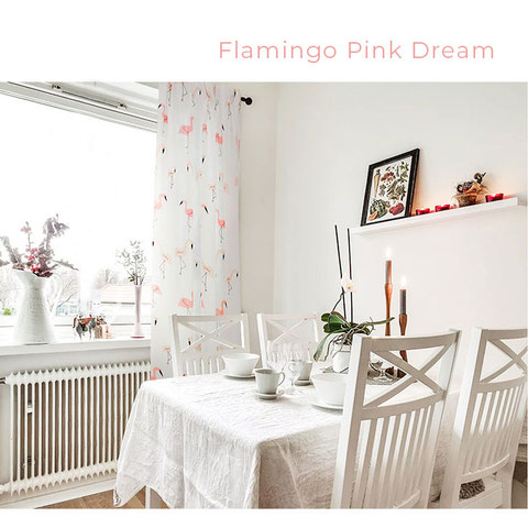 Flamingos Pink Dream Curtain 5