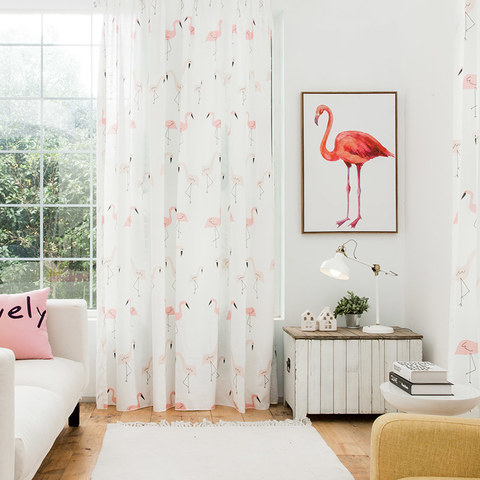 Flamingos Pink Dream Curtain 1