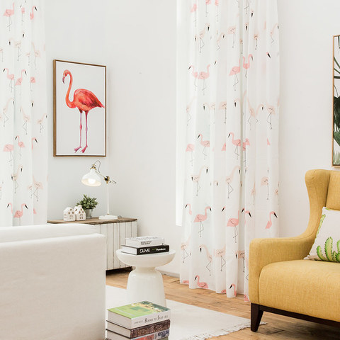 Flamingos Pink Dream Curtain 2