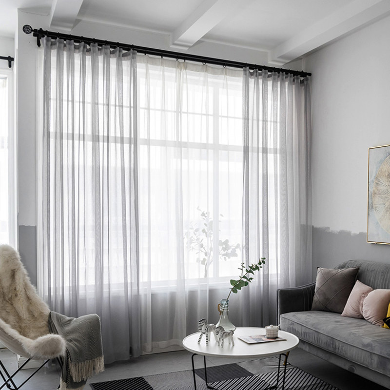 Sheer Curtain Luxe Light Grey Sheer Voile Curtain Voila Voile