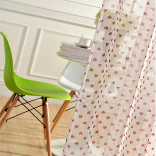 Queen of Hearts Semi Sheer Voile Curtain 3