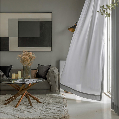 Sheer Curtain Soft Breeze Grey Voile Curtain 4