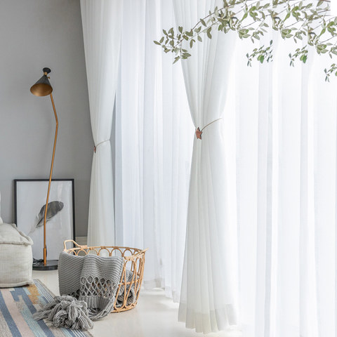 Sheer Curtain Soft Breeze Brilliant White Voile Curtain 6