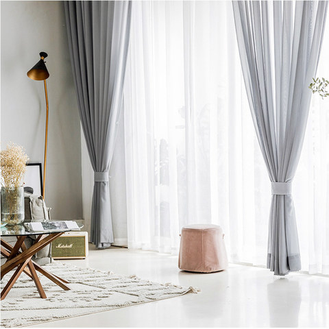 Sheer Curtain Soft Breeze Grey Voile Curtain 6
