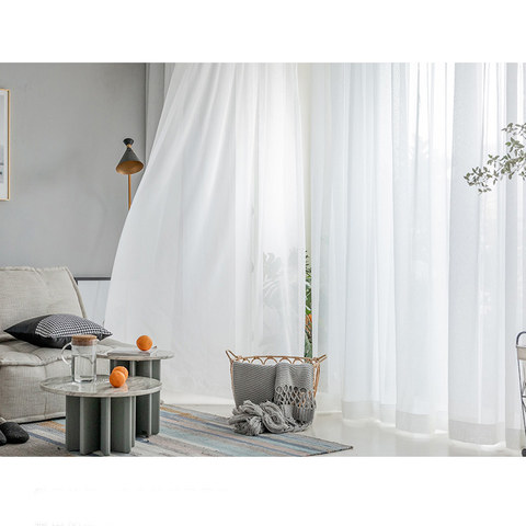 Sheer Curtain Soft Breeze Brilliant White Voile Curtain 7