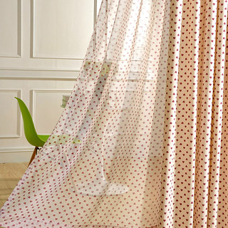 Queen of Hearts Semi Sheer Voile Curtain 1
